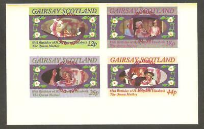 GAIRSAY 1985 Queen Mother GIRL GUIDES 75th Anniv RED OP IMPERF Minisheet