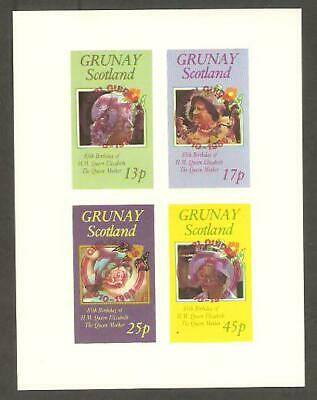 GRUNAY 1985 Queen Mother GIRL GUIDES 75th Anniv RED OP IMPERF Minisheet