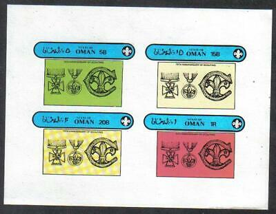 OMAN STATE 1982 75th Anniv BOY SCOUTS Badges & Medals IMPERF Minisheet