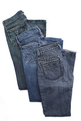 2765edd5cebf5 Habitual Womens Low Rise Boot Cut Jeans Medium Wash Cotton Size 25 26 Lot  of 3
