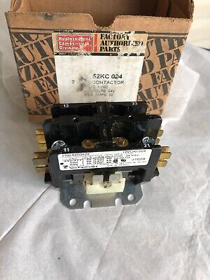 2 Pole 30 Amp 24v Condenser Contactor Relay HN52PC022 OEM Replacement for Carrier Double Pole