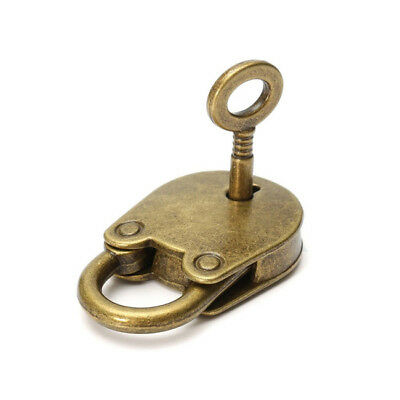 Mini Archaize Padlocks Bronze Color Old Vintage Antique Style Key Lock Decor YO