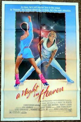 A NIGHT IN HEAVEN ORIGINAL MINT 27x41 MOVIE POSTER 1983 CHRISTOPHER ATKINS