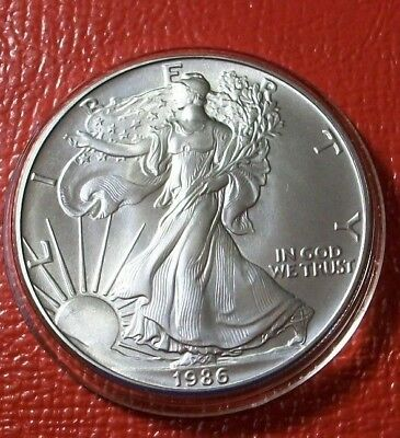1986 American Silver Eagle $1 Coin .999 Silver Ounce 1 oz  First Year!