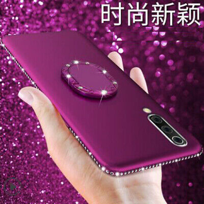 Crystal Diamond Bling Glitter Soft Case Cover+Ring Stand For Huawei P30 P30 Pro