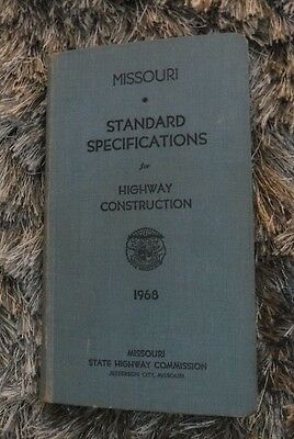 Missouri Standard Specifications for Highway Construction-- 1968 VINTAGE