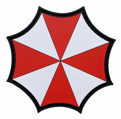 Resident Evil Umbrella Corporation VELCRO® Brand Patch {PVC Rubber-3.0 inch]