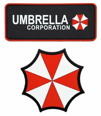 Resident Evil Umbrella Corporation Patch {PVC Rubber-2PC Bundle]