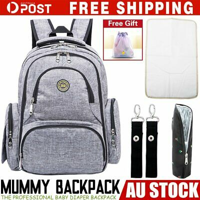 GENUINE QMBB Large Multifunctional Baby Diaper Nappy Backpack Mummy Changing Bag