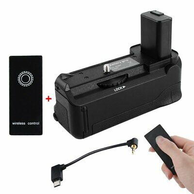 Vertical Battery Grip Holder 2.4G Wireless Remote Control For Sony A6500 Camera