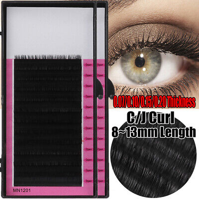 SYNTHETIC MINK LASHES Tray Lash B C D J Curl For Individual