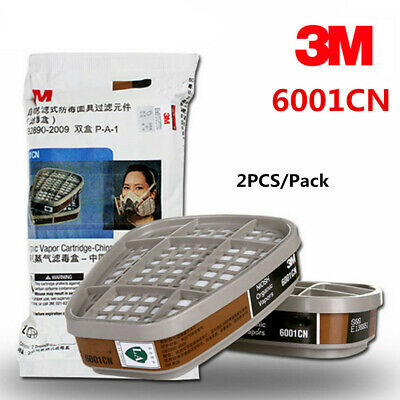 1 Pair 3M 6001CN Organic Vapor Respirator Filter Cartridge For 3M 7502 6200 Mask