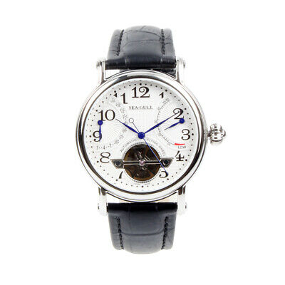 Seagull Flywheel Retrograde Date Power Reserve Guilloche Automatic Watch M172S