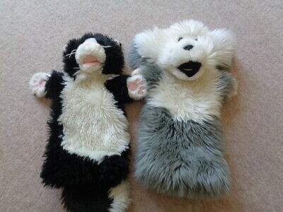 The Puppet Company Cat and Sheep dog Puppets x 2  Bundle
