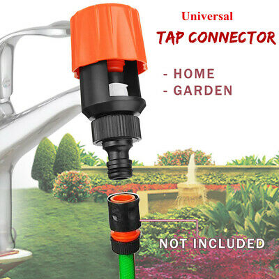 Universal Garden Kitchen Tap Hose Pipe Joint Push Into Quick Coupling Connector