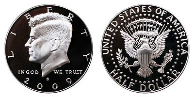 2009 S Kennedy Half Dollar Proof 90%silver Gem Uncirculated 50 Cent Pf Coin#1389