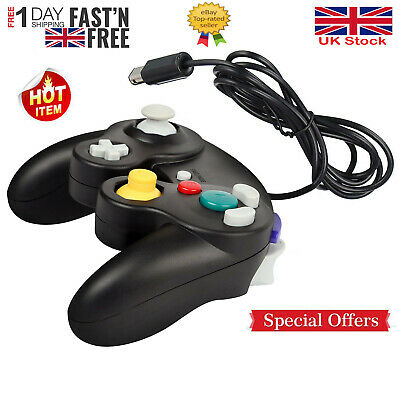 Black Wired Shock Video Game Controller Pad for Nintendo GameCube GC&Wii Black
