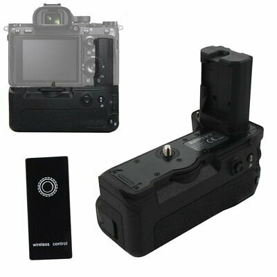Vertical Battery Hand Grip + Remote Control For Sony A9 A7III A7RIII DSLR Camera
