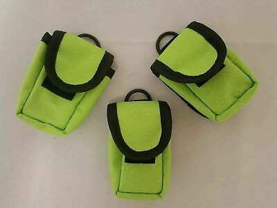 Finger Pulse Pouch for Oximeter Lime Green Nylon Belt Carry Pouch