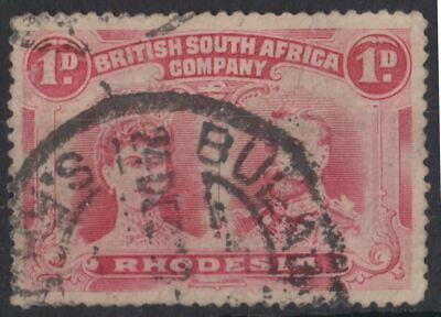g754) BSAC Territory (Rhodesia) 1910/13. Used. SG 125 1d Rose-red. Royalty