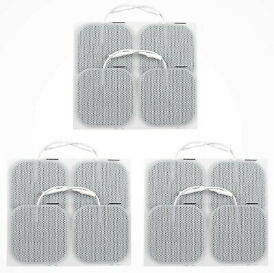 12 Electrode Pads - 5cm Square for TENS and EMS Machines CE Approved Made in USA