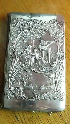 Edwardian solid silver front  address book