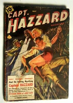 CAPTAIN HAZZARD ORIGINAL Rare Pulp Magazine May 1938 Norman Saunders Cover
