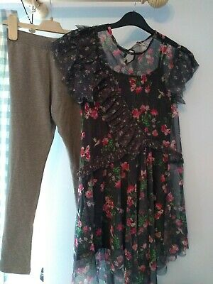 BNWT girls NEXT outfit. Leggings & floaty top.   11 yrs  RRP £26      ( 3/3)