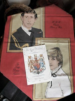 Collectable Charles Diana Wedding 1981 Teatowel & Official Souvenir Programme