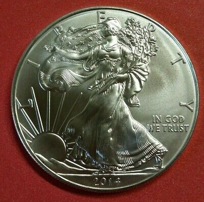 2014 $1 .999 Pure Silver American Eagle 1 Oz BU Collectible Coin From Mint Tube~