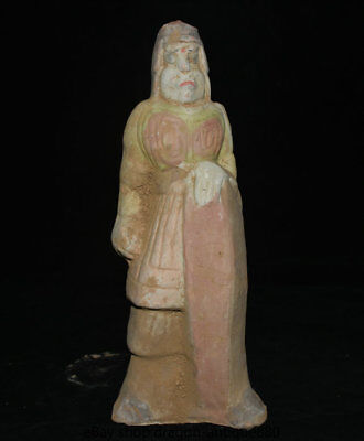 """11.6"""" Collect Old Chinese Tang Sancai Palace Dynasty Funerary Pottery Figurine"""