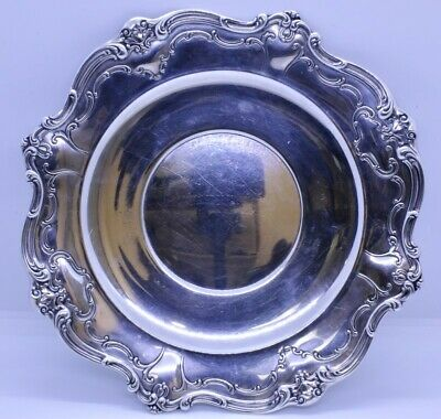 "Gorham Chantilly Duchess Solid Sterling Silver 10.5"" Sandwich Serving Plate"