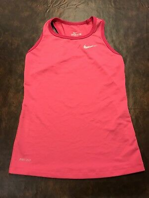 92f33ccaf Teen Junior Girl Nike Pro Pink Fitted Tank Top Racer Back Size Medium