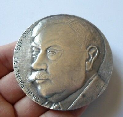 French Politician & Mathematician Paul Painleve Art Medal / Medaille Cnam