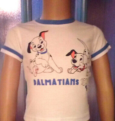 T-Shirt Baby Boys Age 3 6 9 Months Disney 101 Dalmations Summer Blue White New