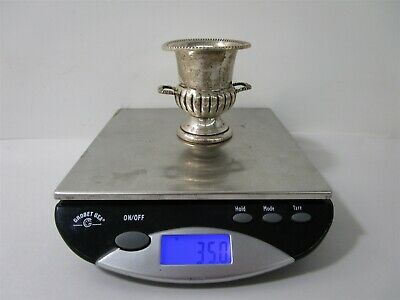 Neoclassical Sterling Silver Reed Pattern Urn / Vase 35.0g
