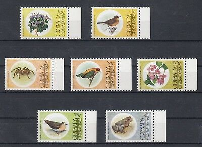 Timbre Stamp 7 Grenadines Grenade Y&T#132-38 Fleur Animal Neuf**/Mnh-Mint ~C57