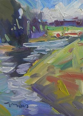 "JOSE TRUJILLO OIL PAINTING ORIGINAL ART 9X12"" Canvas IMPRESSIONISTIC LANDSCAPES"