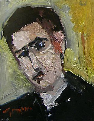 Jose Trujillo Oil Painting Portrait Man Original Impressionist Alla Prima Art