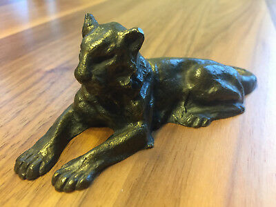 Antique Tiffany Studios New York Bronze 932 Lion Sculpture Paperweight