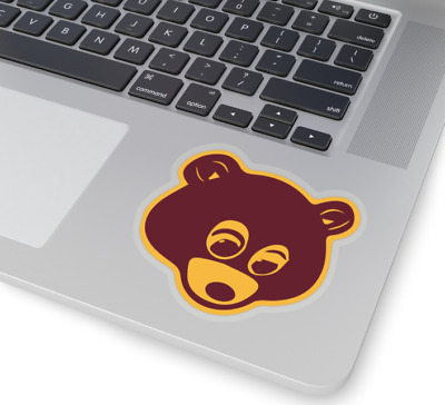 3e8f555f Kanye West College Dropout Bear Sticker Transparent Decal 2