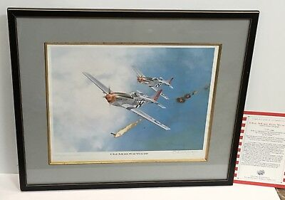 "NEW Chuck Yeager & Ted Wilbur Signed Framed ""One More For Yeager"" Aviation Art"