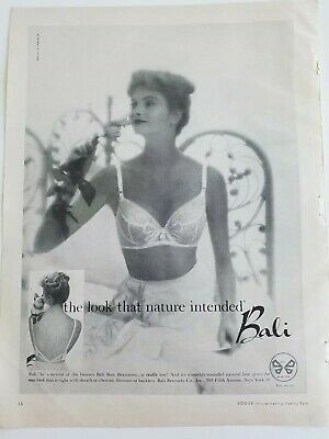 1958 womens Bali bow brassiere bra vintage fashion ad
