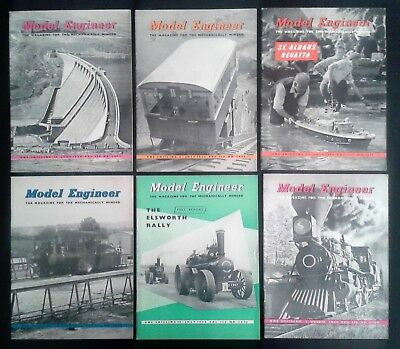 The Model Engineer MAGAZINE 6 issues 1956 June July August Engineering