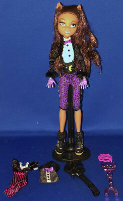 Monster High Doll Clawdeen Wolf Sweet 1600 Loose Complete w/Key Stand Mattel