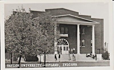 1940's RPPC A View of Taylor University in Upland, IN Indiana PC