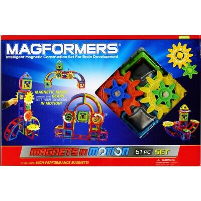 Magformers Magnets in Motion 61-Piece Gear Set