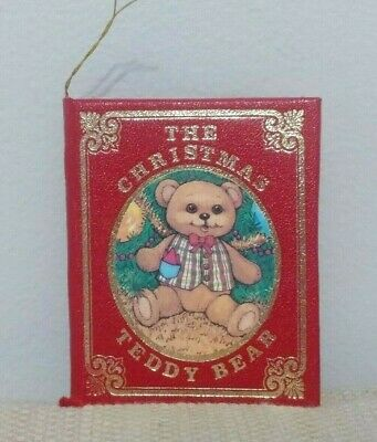 Vtg 1984 Kurt Adler The Christmas Teddy Bear Ornament Book-Elizabeth Marraffino