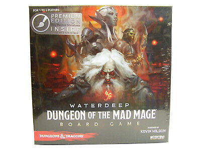 Dungeons&Dragons Waterdeep Dungeon of the Mad Mage Board Game Premium Edition