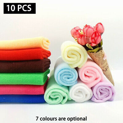 10x 30*30cm Microfiber Car Cleaning Towel Detailing Polishing Waxing Dish Cloth